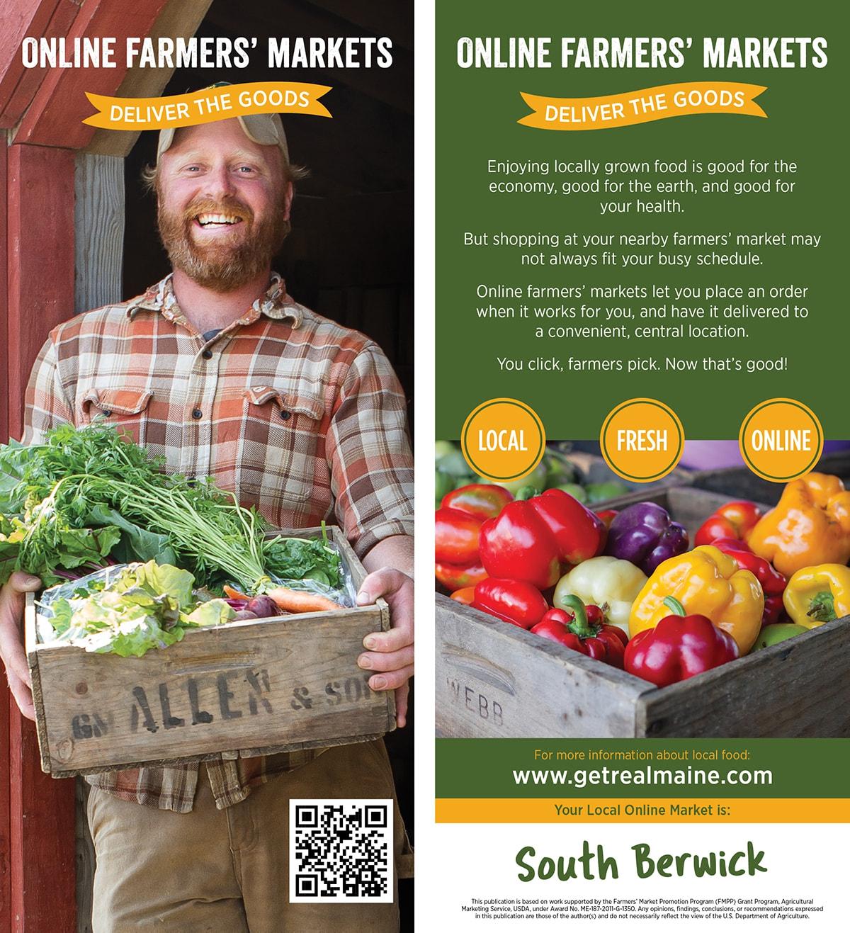 Online Farmers Markets Rackcard 2 Sw